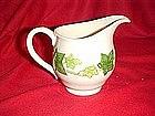 Franciscan ivy pattern, cream pitcher