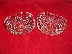 Crystal candle holders, Caprice pattern