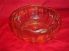 """Fostoria Fairfax  7""""  topaz  yellow bowl"""
