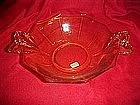 Fostoria Fairfax  topaz soup bowl with bow handles