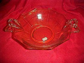 """Fostoria Fairfax large  topaz 10 1/2"""" dessert bowl,"""