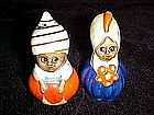 Old East Indian people ,salt and pepper shakers