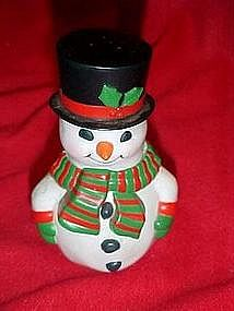 Snowman salt and pepper shaker