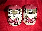 Oneida fruits and flowers salt and pepper shakers