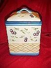 Basket weave with cherries, cookie jar by Inspirado