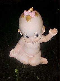 Kelvins bisque baby figurine, kewpie-like