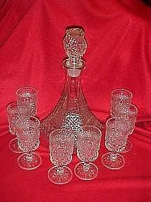 Wexford Captains decanter with wine glasses set