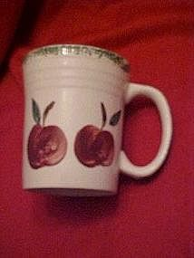 Large coffee mugs, red apples with sponge trim