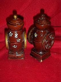 Coffee grinder salt and pepper shakers