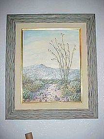 Sedona Desert-Another fine day, oil by Mildred Ford