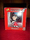 Peanuts, marching band Lucy ornament in box