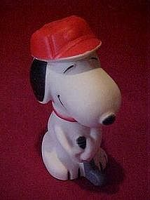 Peanuts, Snoopy golfer. squeaky toy