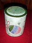 Christmas cookie treat jar, hand painted ornament decor