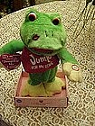 """Hop and Bop singing frog, sings """"Jump for my Love"""""""