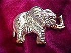 Large gold tone Elephant pin