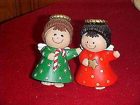 Hallmark cards Christmas Angels, salt and pepper