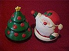 Hallmark Cards, Santa and Christmas tree, shakers