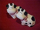Little black and white cow salt and pepper shakers