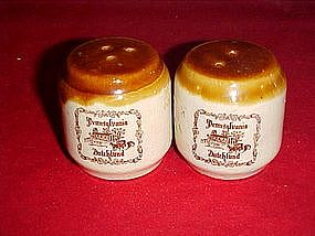 Pennsylvainia Dutchland souvenir salt and pepper