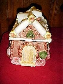 Gingerbread and cookies house, cookie jar
