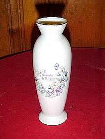 """To Grandmother with love"" vase by Norcrest"