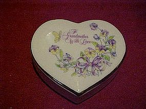 """To Grandmother with love"" heart shape trinket box"