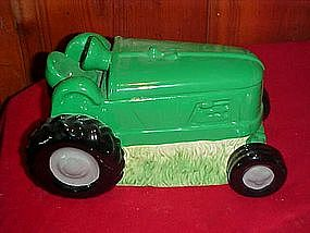 Garden tractor cookie jar, John Deere green