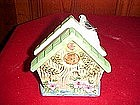Blue bird cottage ceramic napkin holder