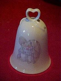Enesco porcelain wedding bell, Precious Moments
