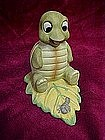 Playful turtle and caterpillar figurine by Homco #1123