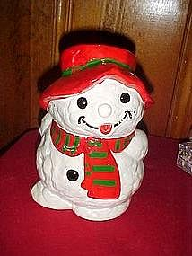 Snowman kid, cookie jar