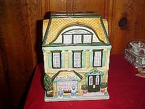 Sweet shop cottage cookie jar