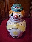 Weiss clown with polka dots, cookie jar