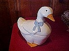 White duck cookie jar, Marcia of California