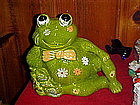 California Originals flower power, frog, cookie jar