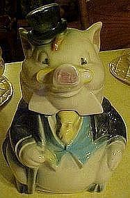 Vintage Brush McCoy Formal Pig cookie jar