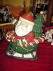 Santa Claus in sleigh cookie jar by Sakura, Debbie Mumm