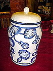 Blue and white floral treat /cookie jar / cannister