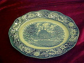 "Liberty Blue 12"" platter, Governors House Williamsburg"