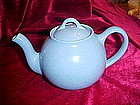 Liptons tea, french  light blue teapot by Hall china