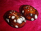 Mirror drip baked potato salt and pepper shakers
