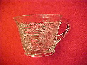 Tiara crystal sandwich glass cups, Indiana