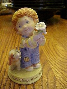 "Avon, ""Little things mean a lot"" bisque figurine"