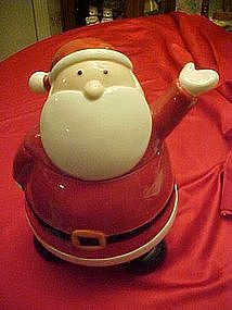 Waving Santa cookie jar