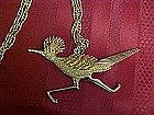 Large  vintage roadrunner pendant