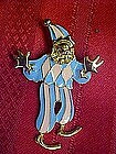 Moveable swinging clown pin