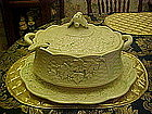 Large four piece ceramic soup tureen, Ivy and trellis