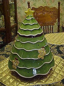 Huge Christmas tree cookie jar by Laurie Gates