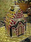 Gingerbread house, cookie jar