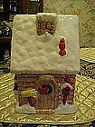 Santa's House,cottage cookie jar, by cooks bazaar
